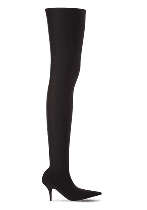 80mm Knife Spandex Over The Knee Boots