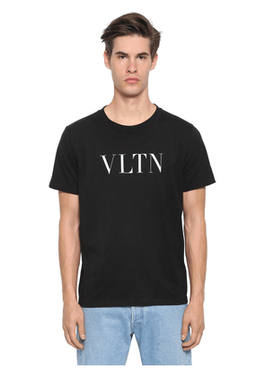 Vlnt Print Cotton Jersey T-shirt