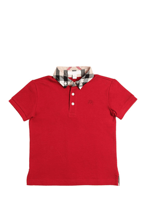 Button Down Cotton Piqué Polo Shirt