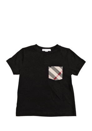 Cotton Jersey T-shirt W/ Check Pocket