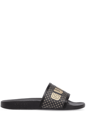 Guccy Stars Rubber Slide Sandals