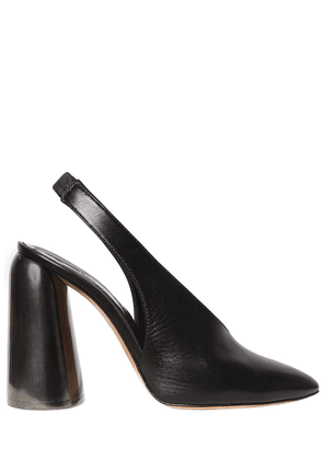 110mm Leather Slingback Pumps
