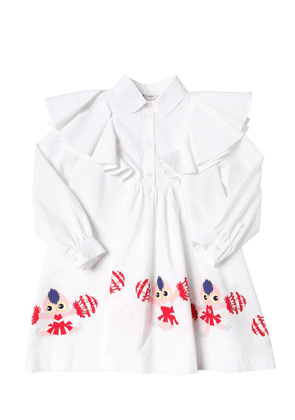 Cheer Printed Cotton Poplin Shirt Dress