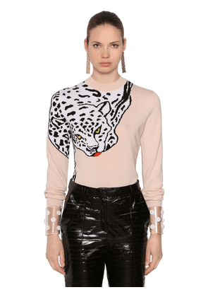 59a436407070 Lvr Edition Leopard Wool Knit Sweater