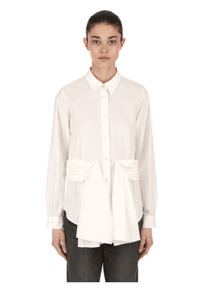 Draped Cotton Poplin Shirt