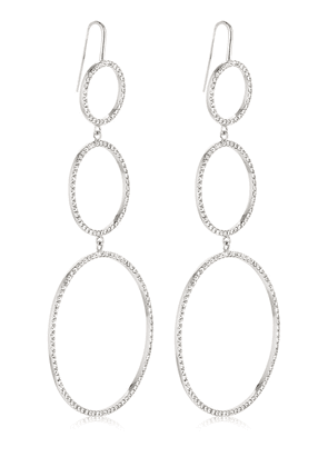 Crystal Circles Drop Earrings