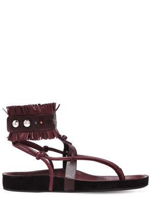 20mm Eliby Fringed Leather Sandals