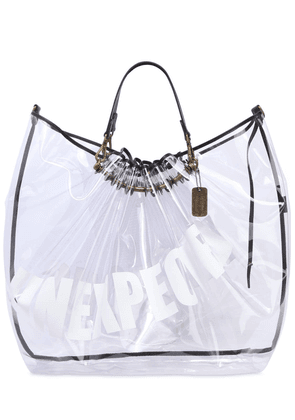 Unexpected Emotions Print Pvc Tote Bag