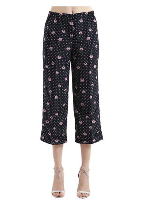 Poppy Printed Crepe De Chine Silk Pants