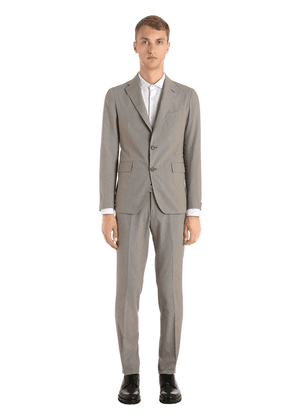 Cotton Micro Houndstooth Suit