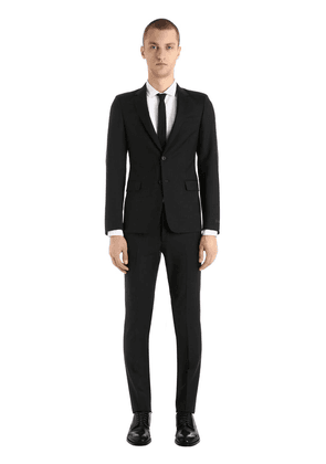 Slim Fit Wool & Mohair Twill Suit