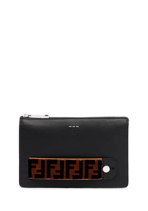 Ff Signature Leather Pouch