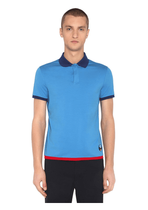 Stretch Cotton Jersey Polo Shirt