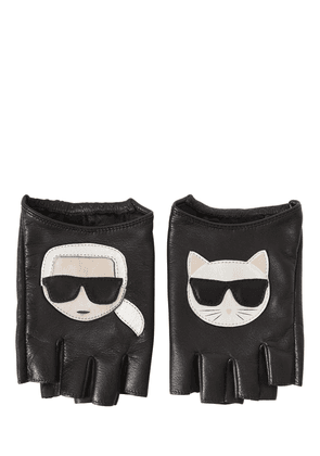 K/ikonik Fingerless Leather Gloves
