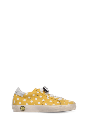 Super Star Polka Dot Leather Sneakers