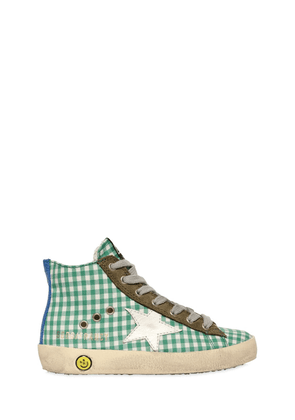 Francy Gingham High Top Sneakers