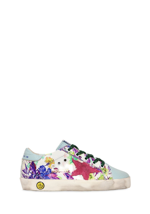 Super Star Floral Patent Leather Sneaker