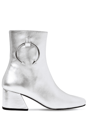 50mm Pierce Metallic Leather Ankle Boot