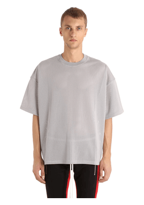Oversized Techno Jersey & Mesh T-shirt