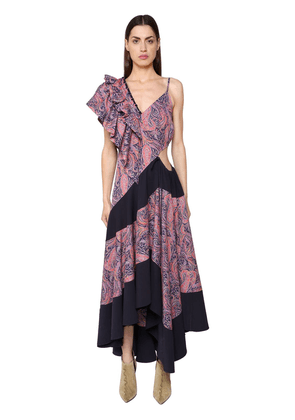 Asymmetrical Printed Light Cotton Dress