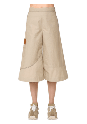 High Waist Cotton Cropped Pants