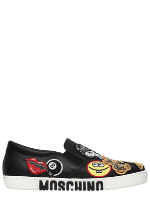 20mm Patches Leather Slip-on Sneakers