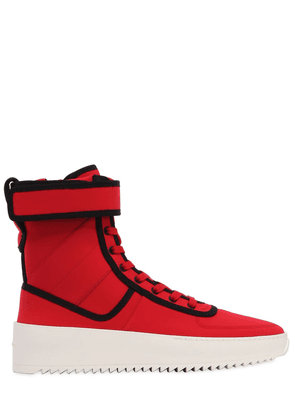Military Nylon High Top Sneakers