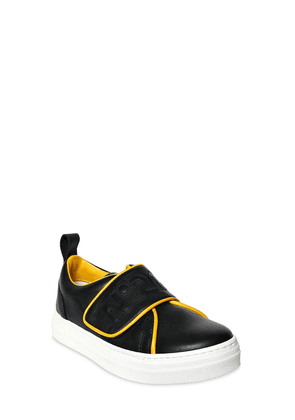 Embroidered Nappa Leather Sneakers