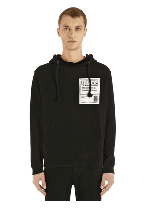 Hooded Cotton Sweatshirt With Patch