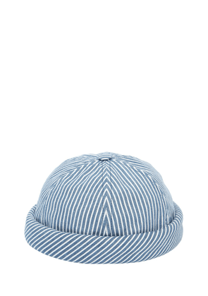 Handmade Striped Cotton Denim Sailor Hat