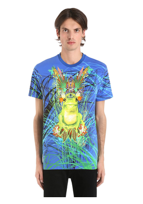 Psychedelic Frog Cotton Jersey T-shirt