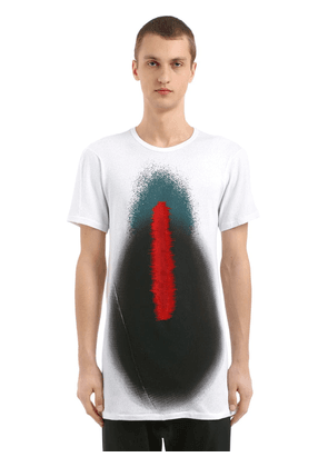 Distortion Perforated Jersey T-shirt