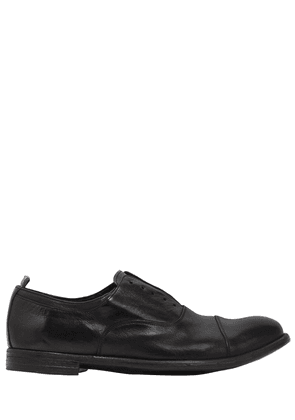 Laceless Leather Oxford Shoes