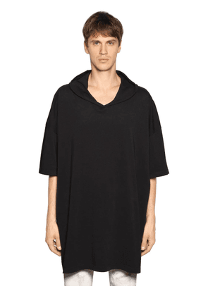 Oversize Hooded Cotton Jersey T-shirt