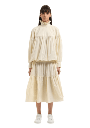 Memento Tiered Light Taffeta Dress