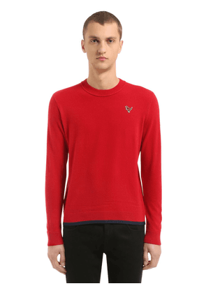 T-rex Patch Wool & Cashmere Knit Sweater