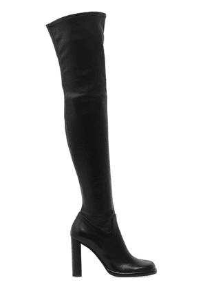 100mm Stretch Leather Over The Knee Boot