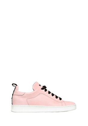 Nappa Leather Sneakers W/ Velvet Laces