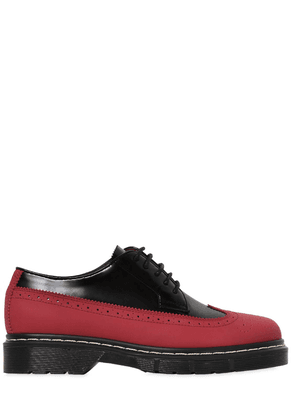30mm Rubber & Brushed Leather Shoes