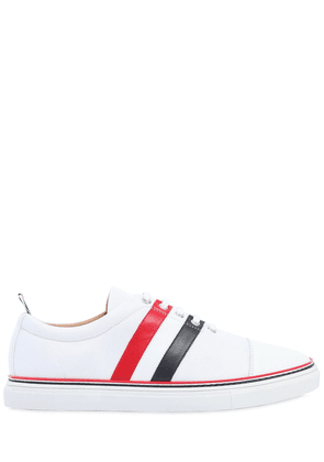Cotton Blend & Leather Sneakers