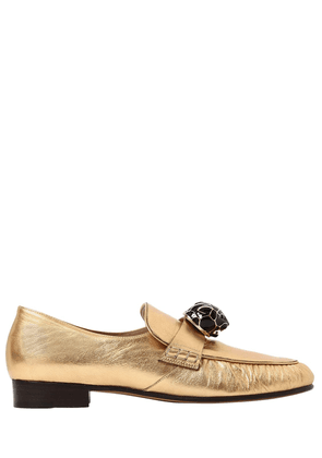 20mm Panther Leather Loafers