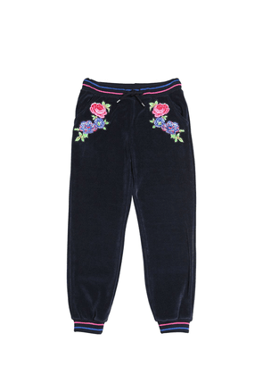 Embroidered Cotton Chenille Sweatpants
