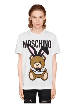 Playboy Teddy Bear Print Jersey T-shirt