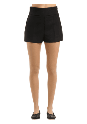 Stretch Couture Wool Shorts