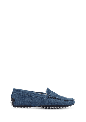 Cotton Denim Loafers