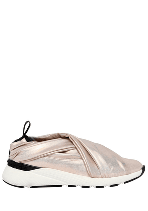 30mm Stretch Satin Slip-on Sneakers