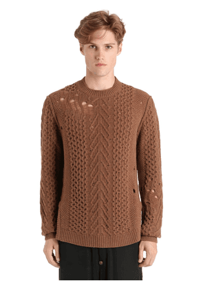 Destroyed Wool Knit Sweater