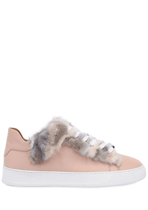 20mm Mink Fur & Leather Sneakers
