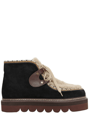 40mm Suede & Shearling Boots
