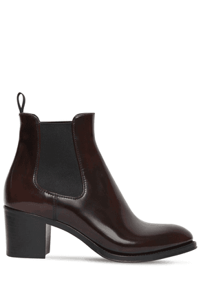 55mm Shirley Brushed Leather Ankle Boots